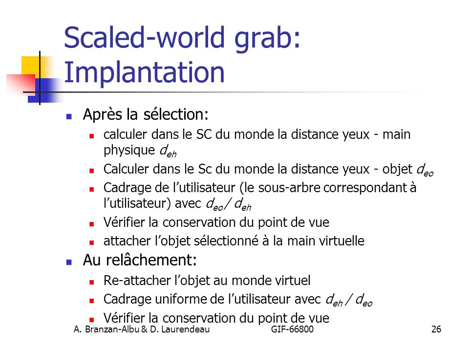 Scaled-world grab: Implantation