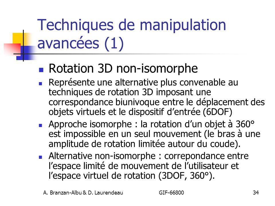 Techniques de manipulation avancées (1)
