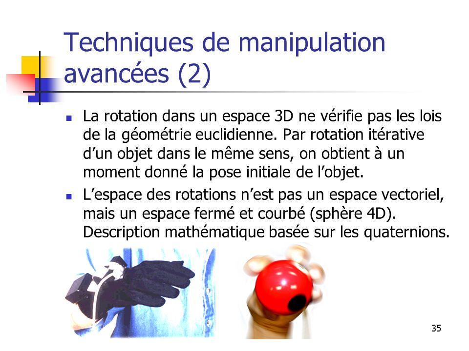 Techniques de manipulation avancées (2)