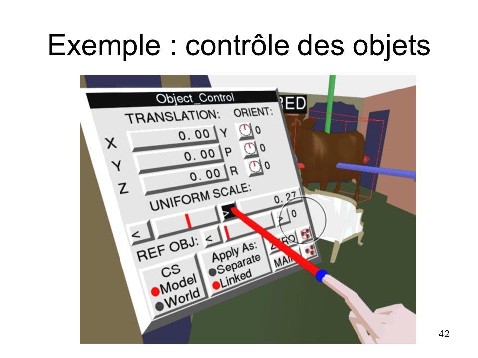Exemple : contrôle des objets