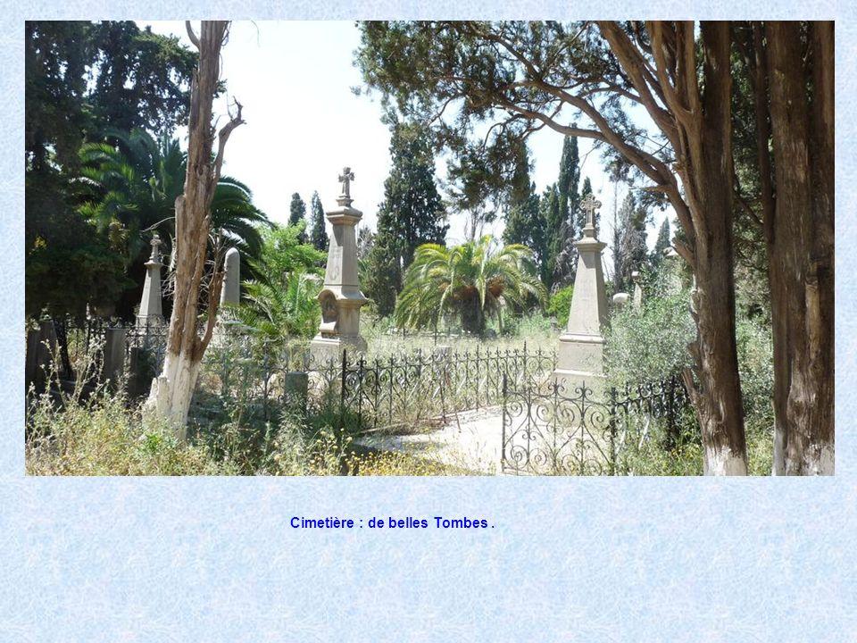 Cimetière : de belles Tombes .