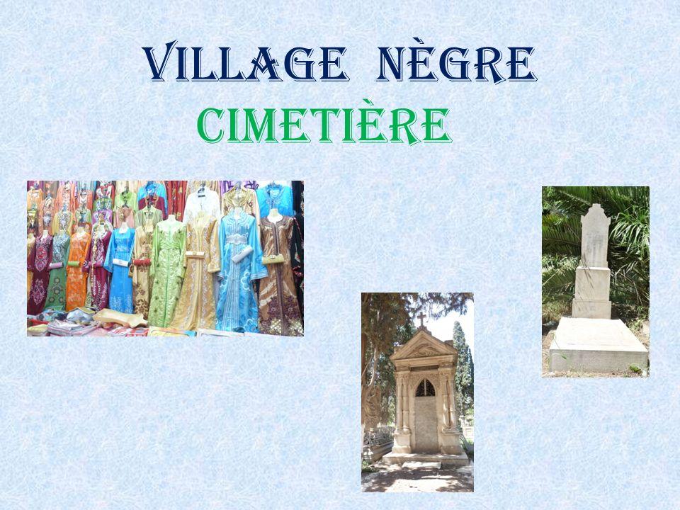 Village nègre cimetière