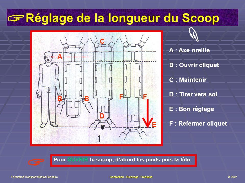 Réglage de la longueur du Scoop