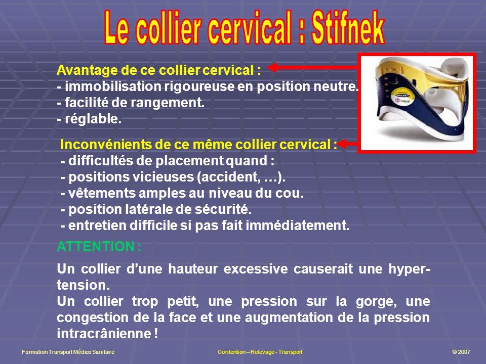 Le collier cervical : Stifnek