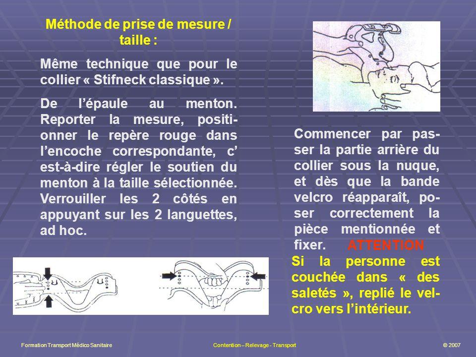 Méthode de prise de mesure / taille :