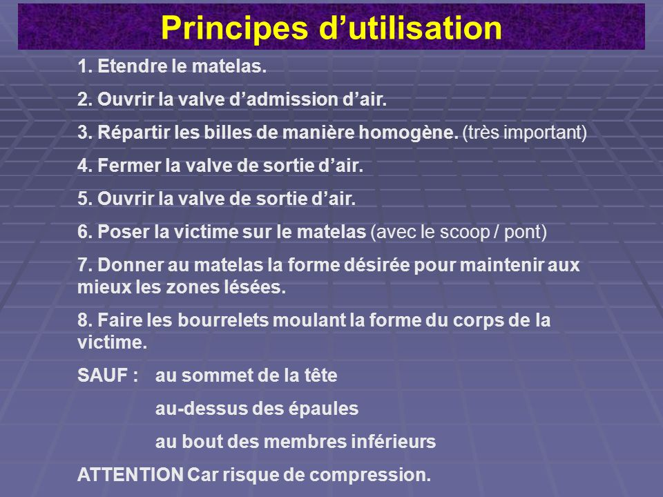 Principes d'utilisation