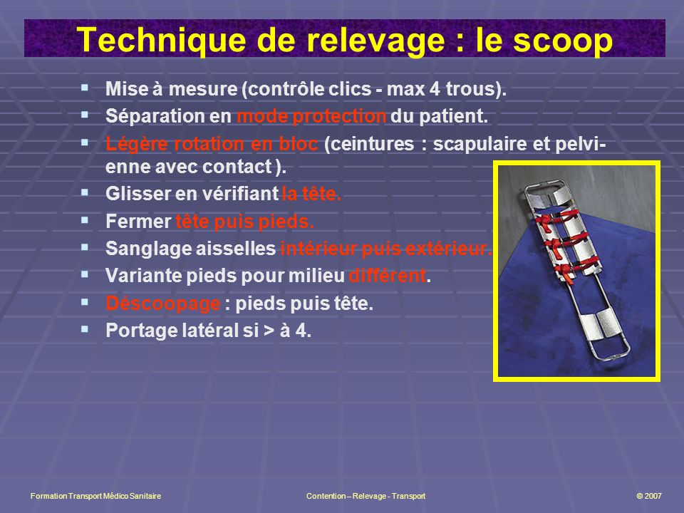 Technique de relevage : le scoop
