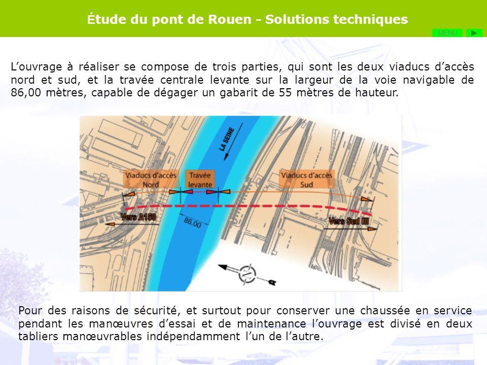Étude du pont de Rouen - Solutions techniques
