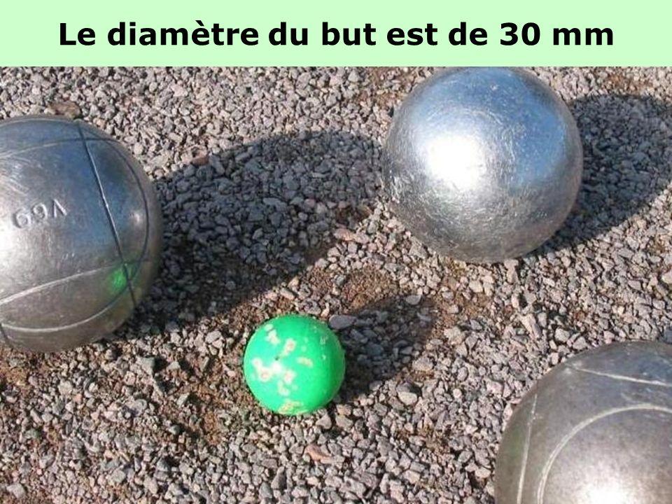 Le diamètre du but est de 30 mm