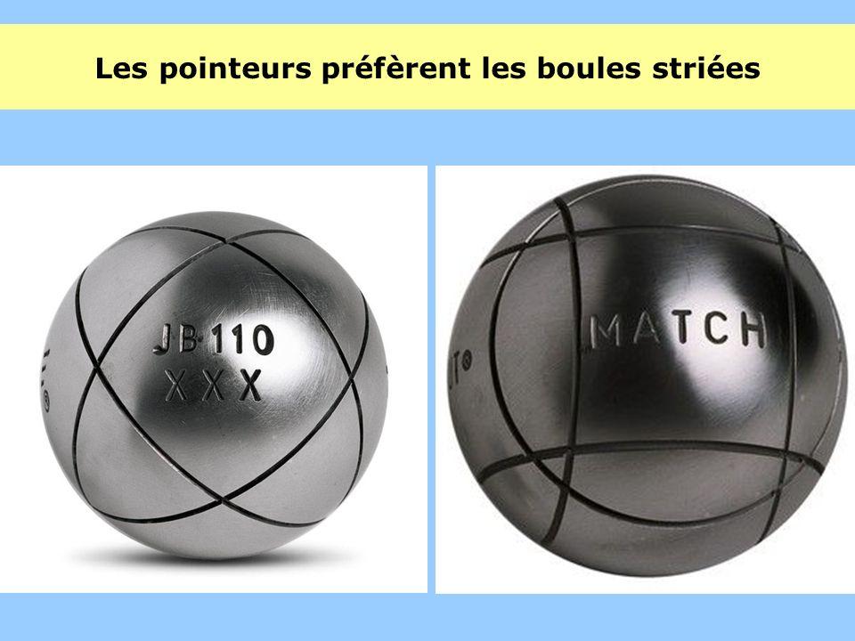 Les pointeurs préfèrent les boules striées