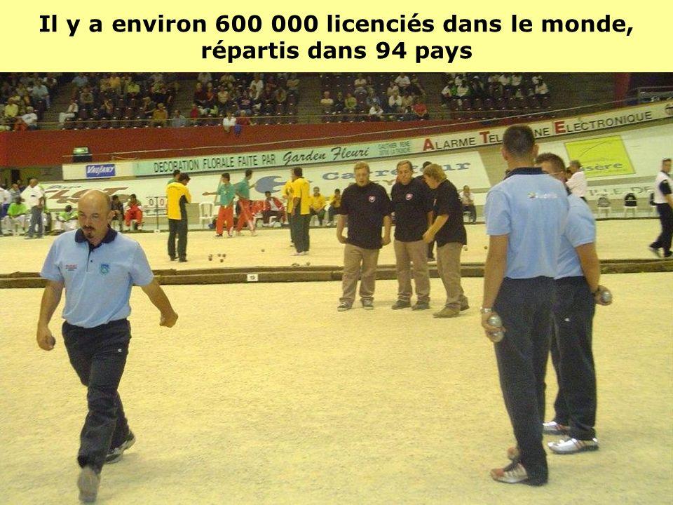 Il y a environ 600 000 licenciés dans le monde, répartis dans 94 pays