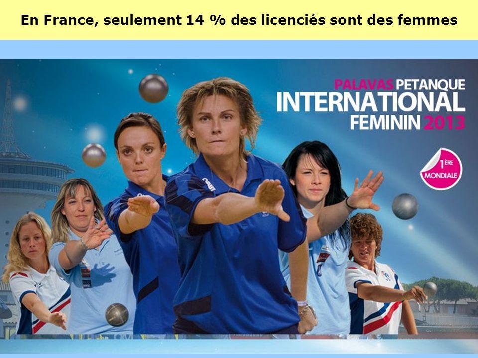 En France, seulement 14 % des licenciés sont des femmes