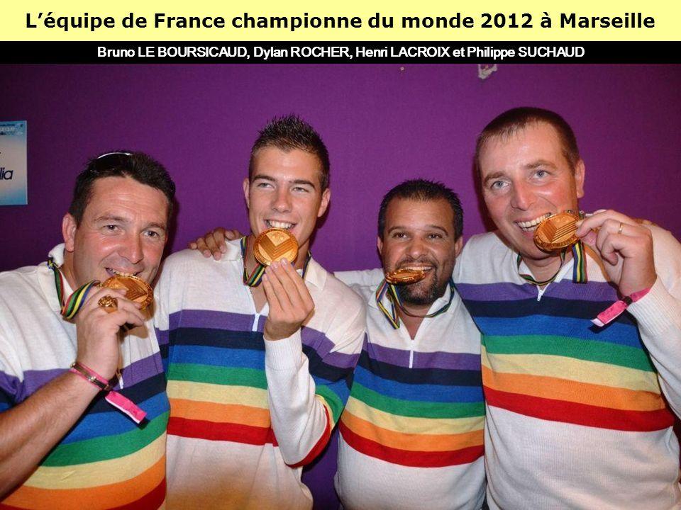 L'équipe de France championne du monde 2012 à Marseille