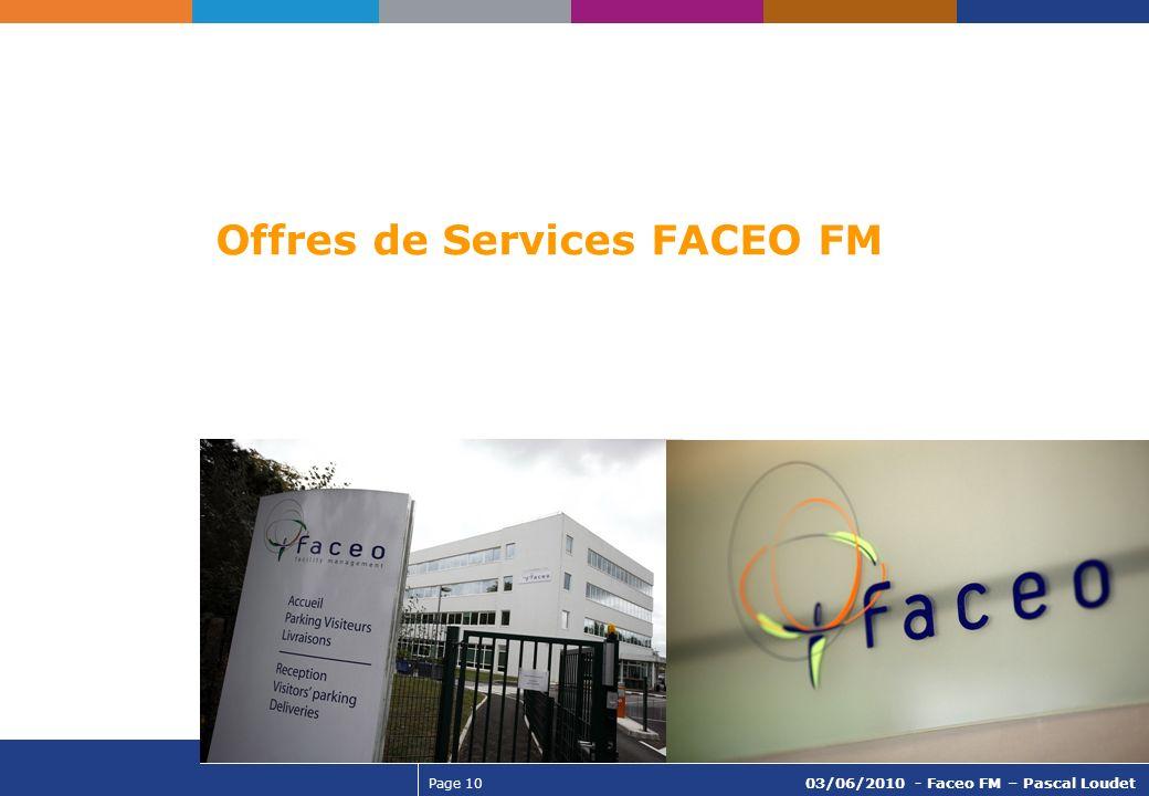 Offres de Services FACEO FM
