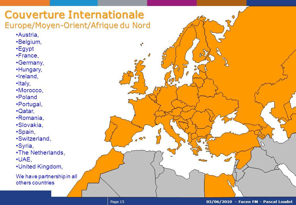 Couverture Internationale Europe/Moyen-Orient/Afrique du Nord