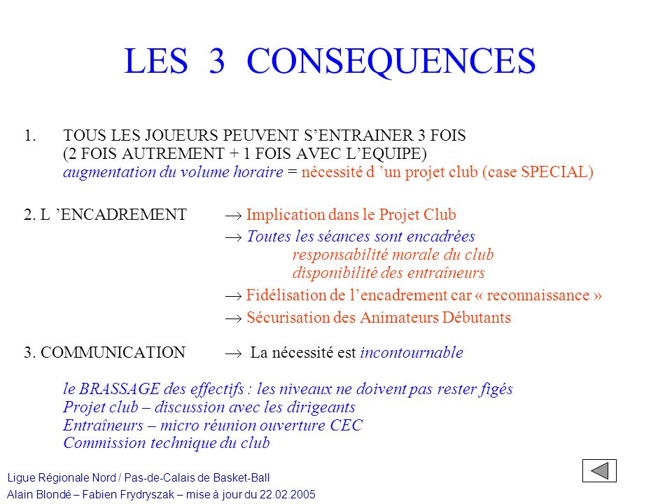 LES 3 CONSEQUENCES