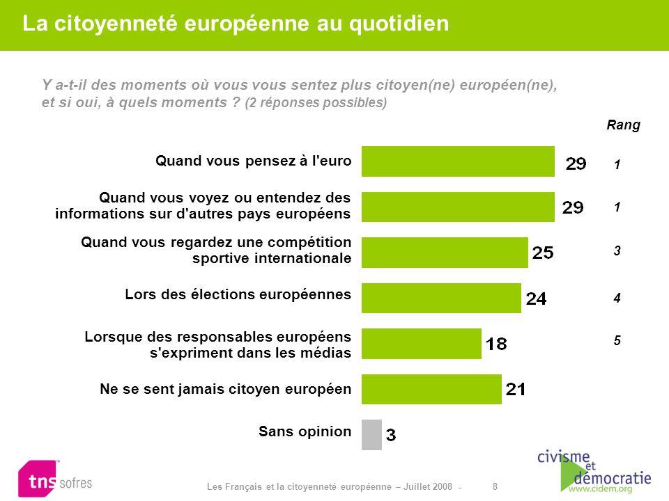 La citoyenneté européenne au quotidien