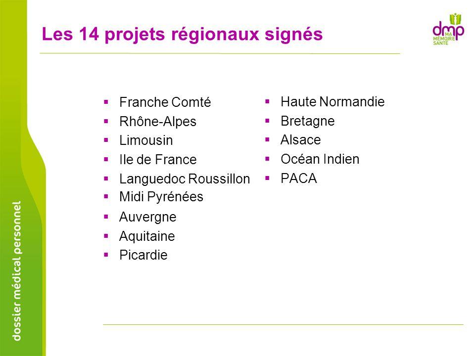 Les 14 projets régionaux signés