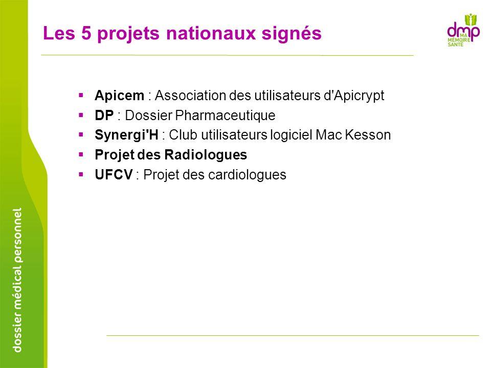 Les 5 projets nationaux signés