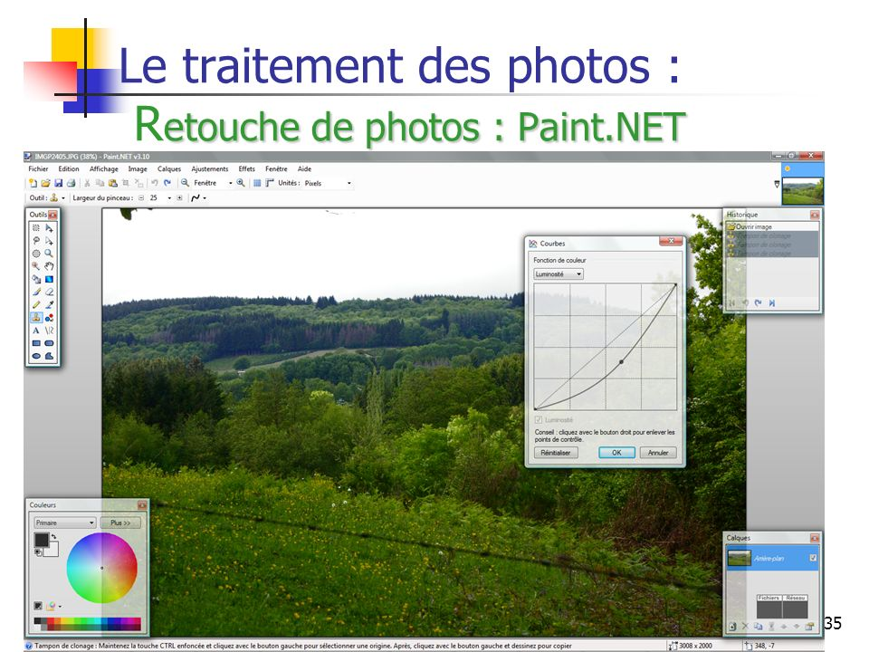 Le traitement des photos : Retouche de photos : Paint.NET