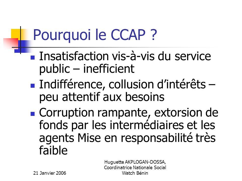 Huguette AKPLOGAN-DOSSA, Coordinatrice Nationale Social Watch Bénin