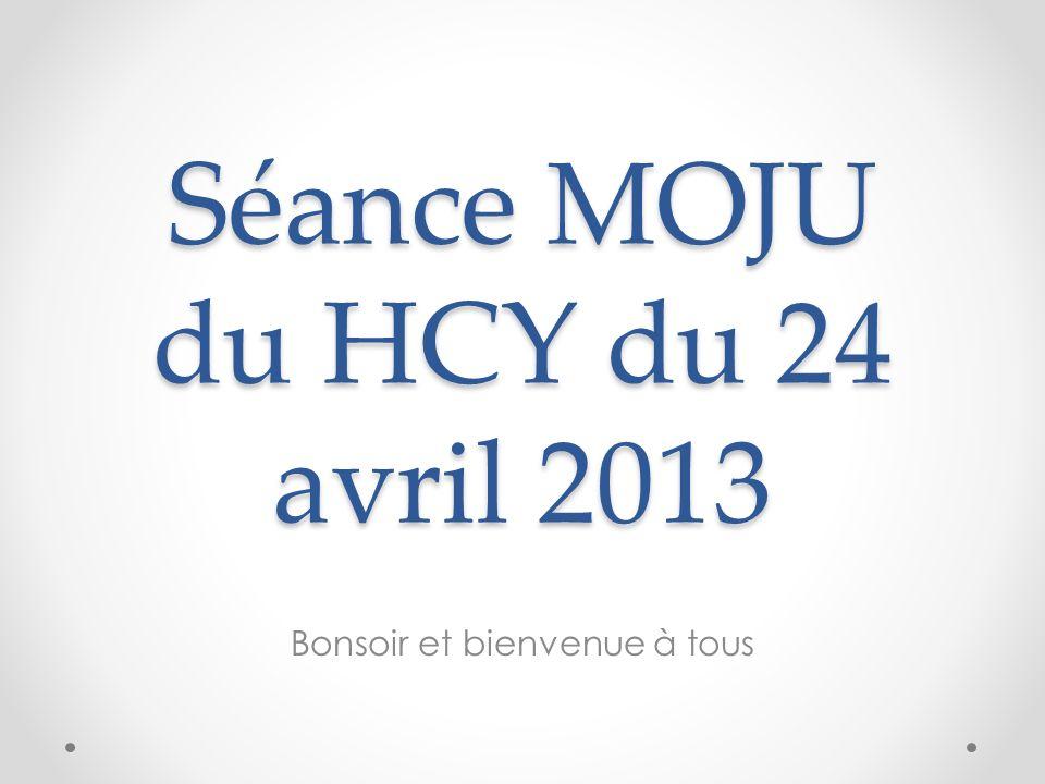 Séance MOJU du HCY du 24 avril 2013