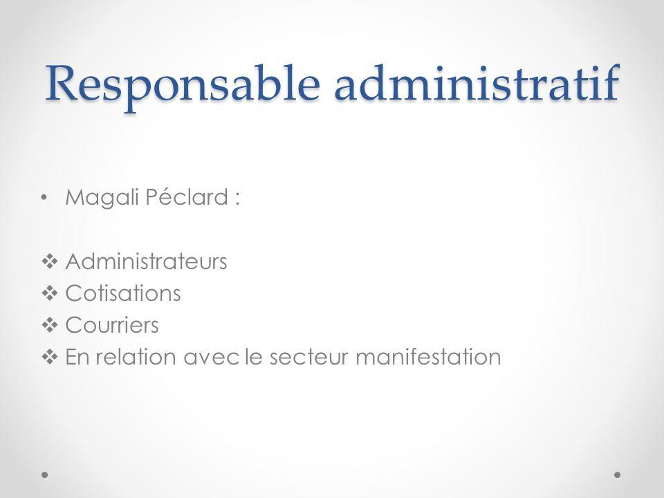 Responsable administratif