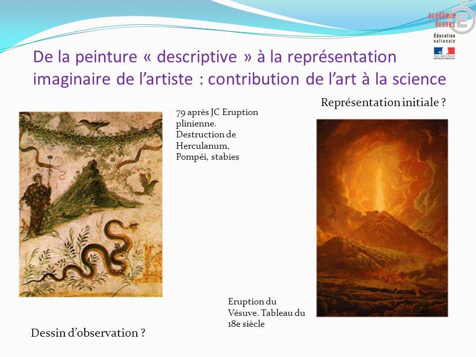 De la peinture « descriptive » à la représentation imaginaire de l'artiste : contribution de l'art à la science