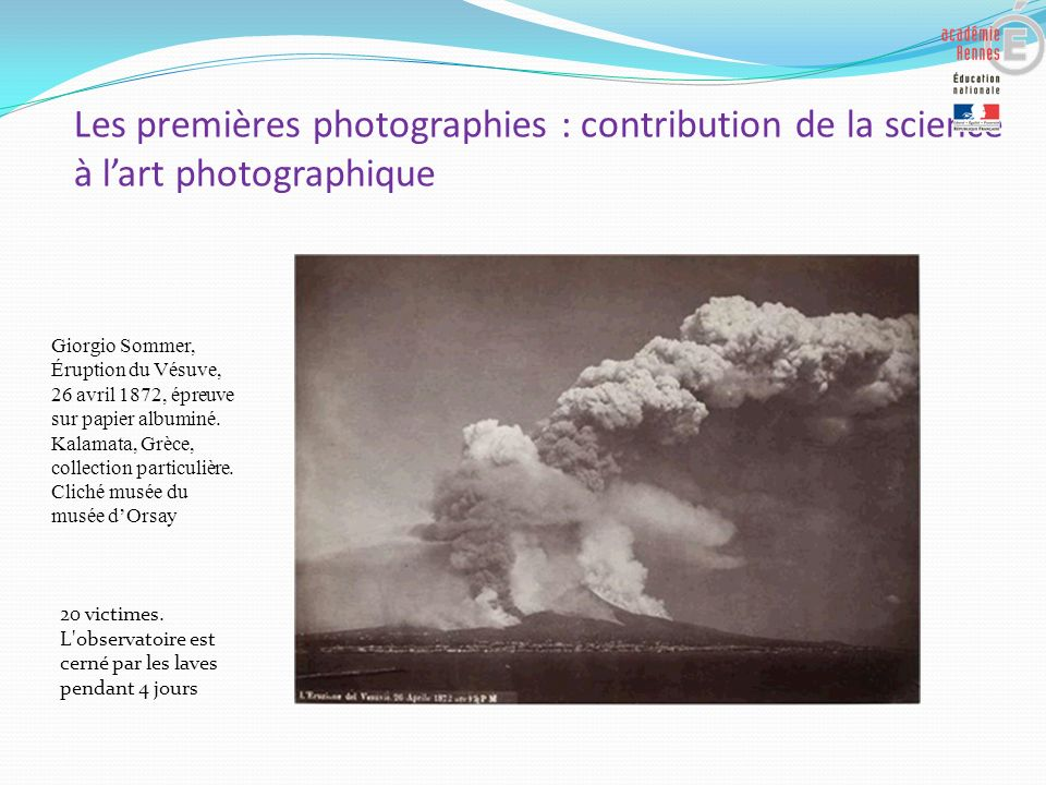 Les premières photographies : contribution de la science à l'art photographique