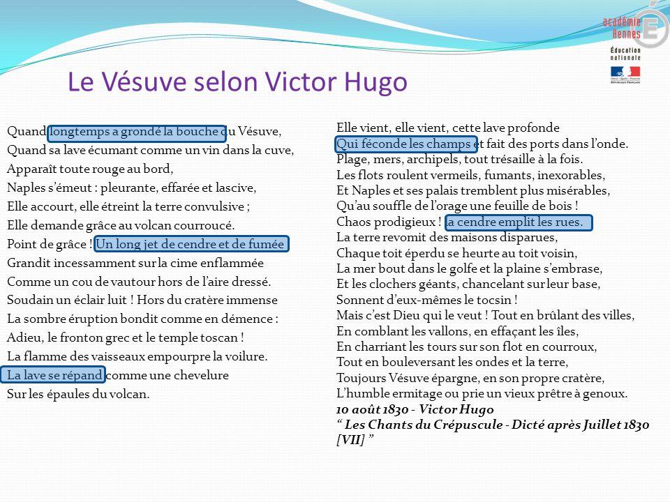 Le Vésuve selon Victor Hugo