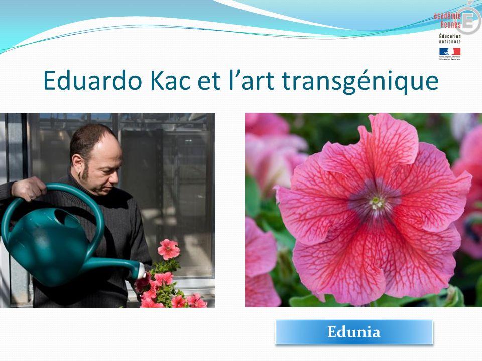 Eduardo Kac et l'art transgénique
