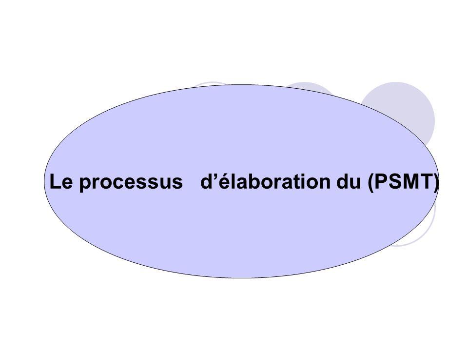 Le processus d'élaboration du (PSMT)