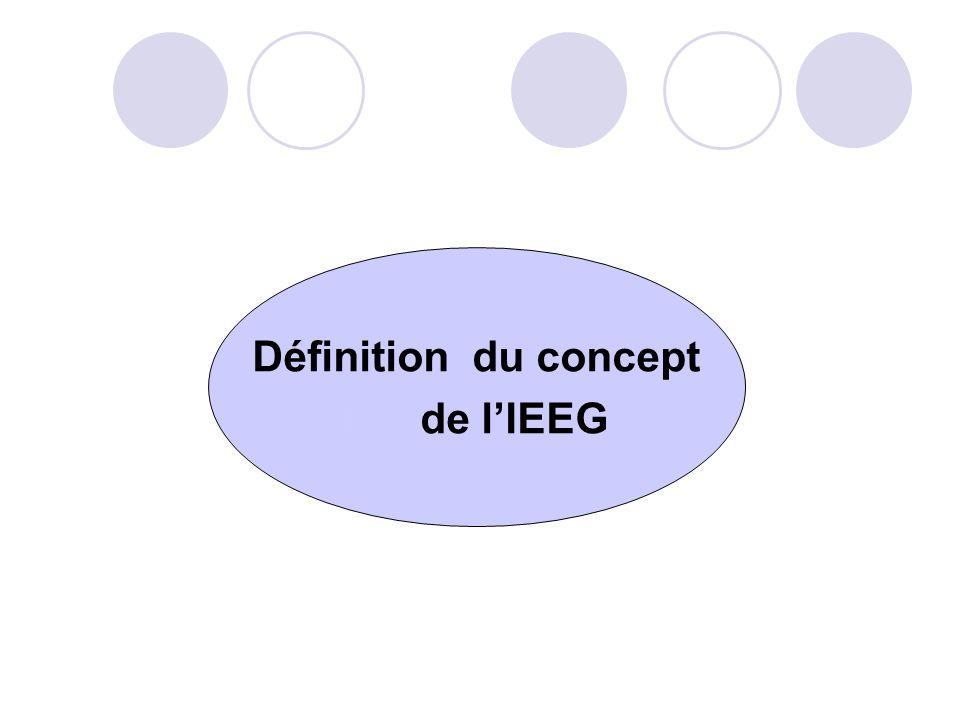 Définition du concept de l'IEEG