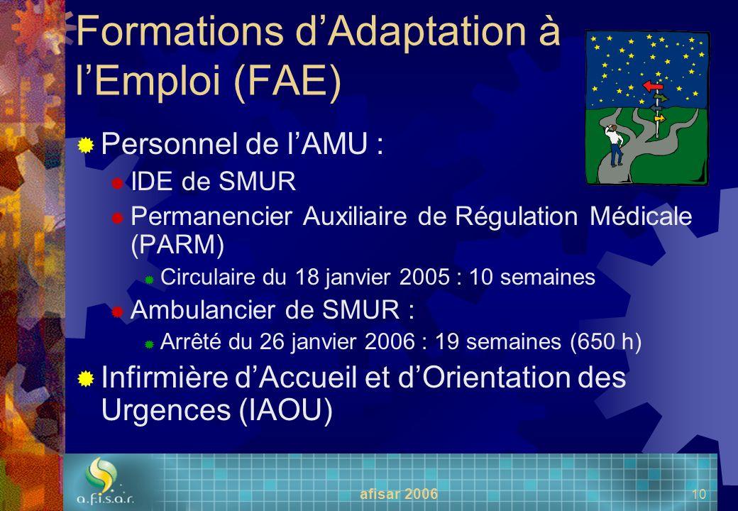 Formations d'Adaptation à l'Emploi (FAE)