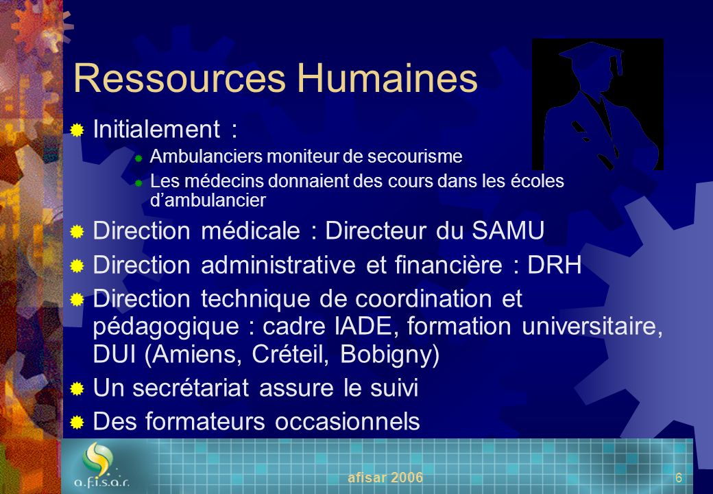 Ressources Humaines Initialement :