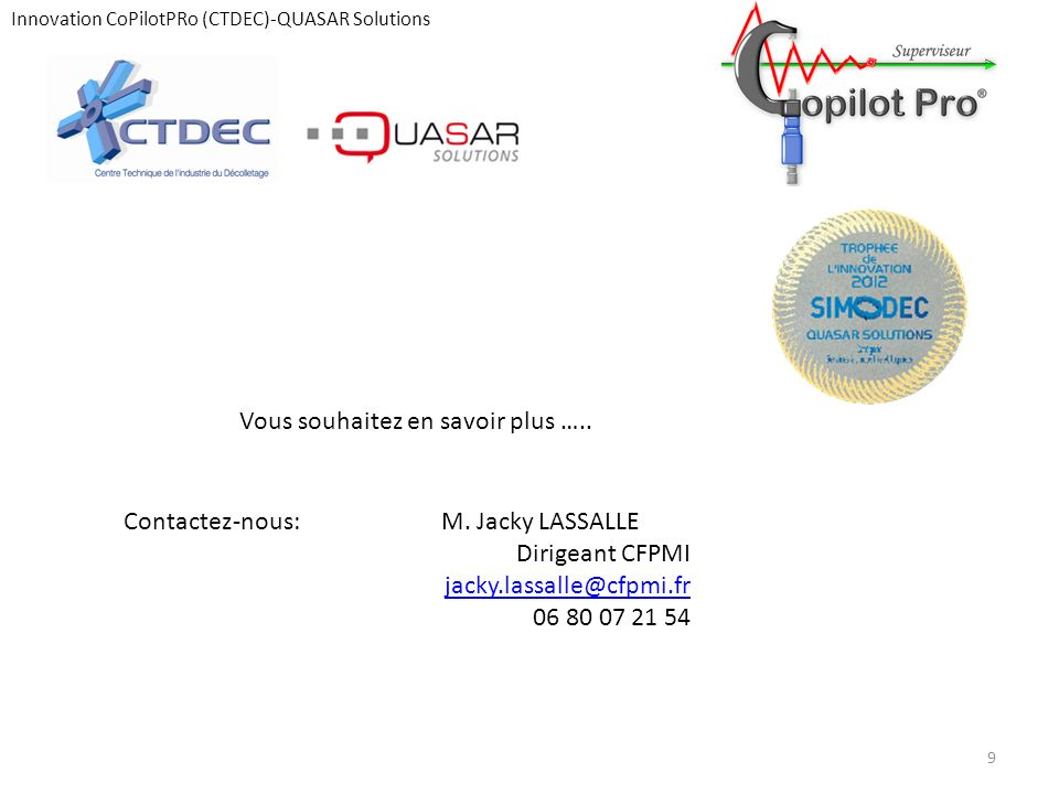 Innovation CoPilotPRo (CTDEC)-QUASAR Solutions