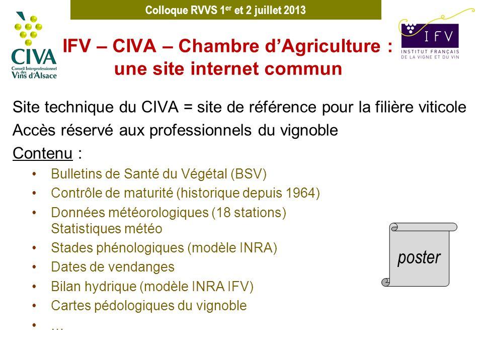 IFV – CIVA – Chambre d'Agriculture : une site internet commun