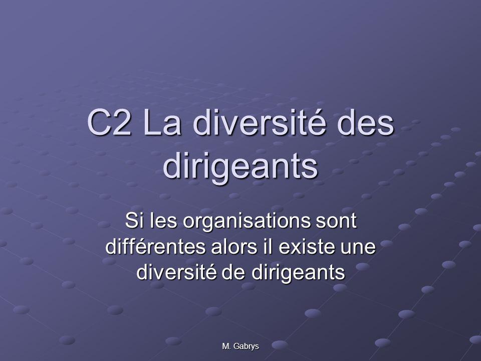 C2 La diversité des dirigeants