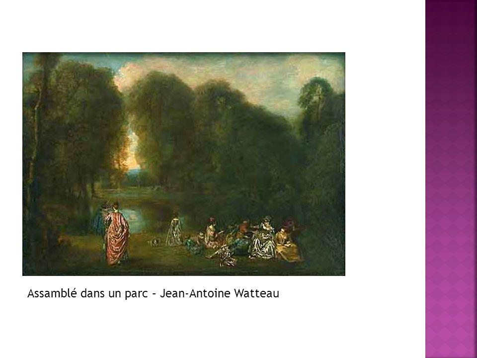 Assamblé dans un parc – Jean-Antoine Watteau