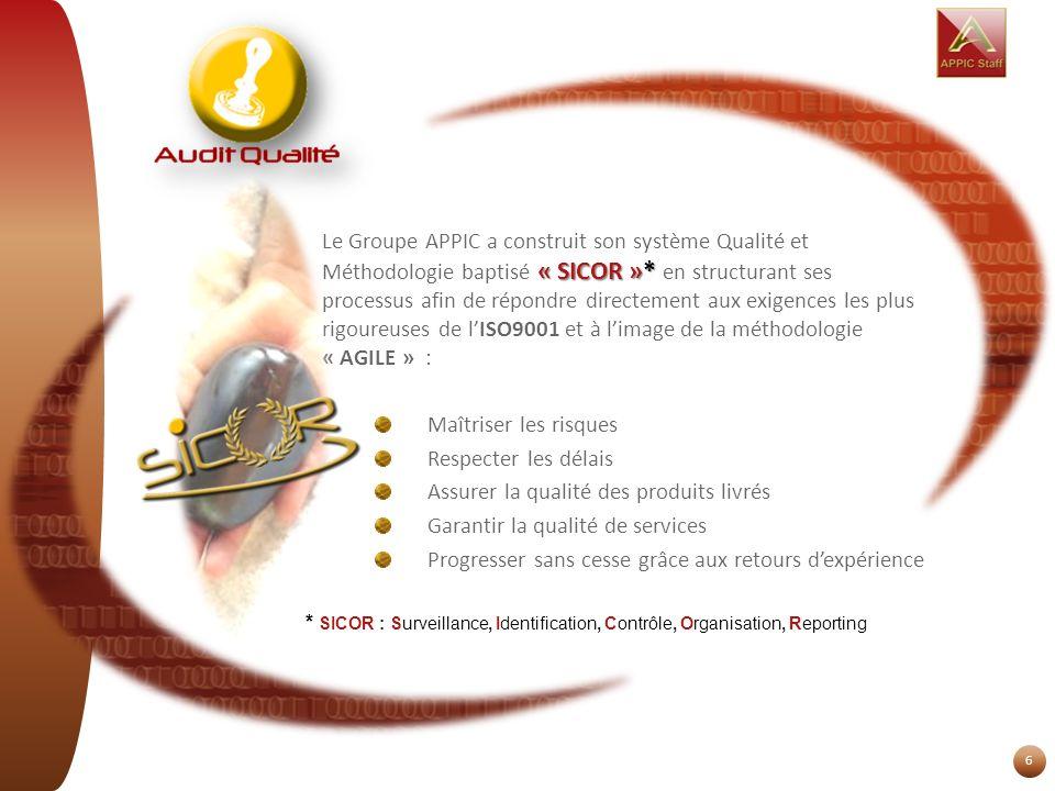 Assurer la qualité des produits livrés Garantir la qualité de services
