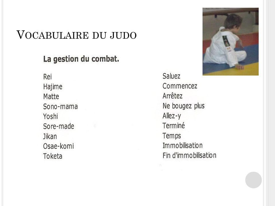 Vocabulaire du judo