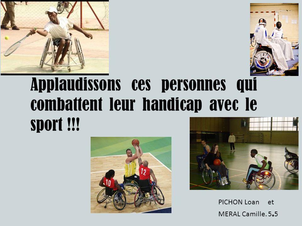 Applaudissons ces personnes qui combattent leur handicap avec le sport !!!