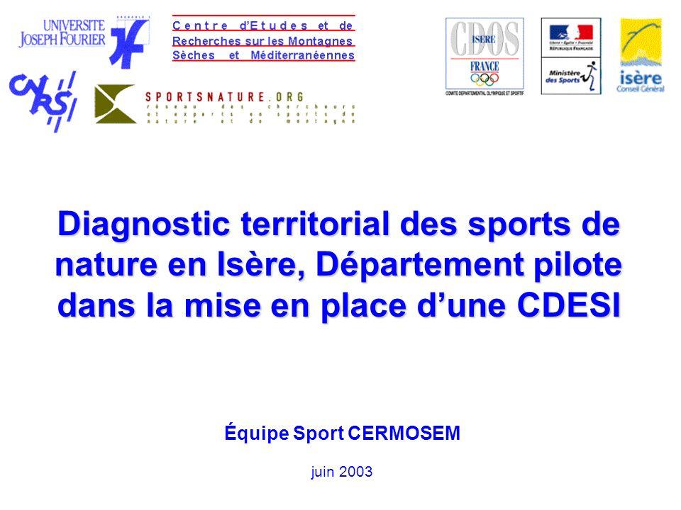 Diagnostic territorial des sports de nature en Isère, Département pilote dans la mise en place d'une CDESI
