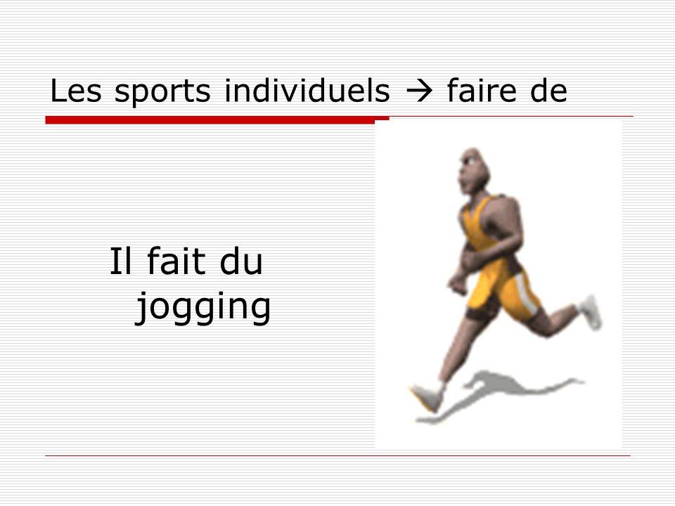 Les sports individuels  faire de