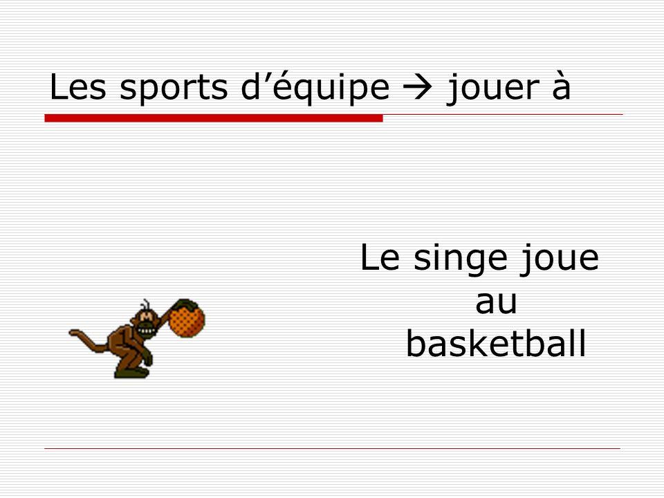 Les sports d'équipe  jouer à