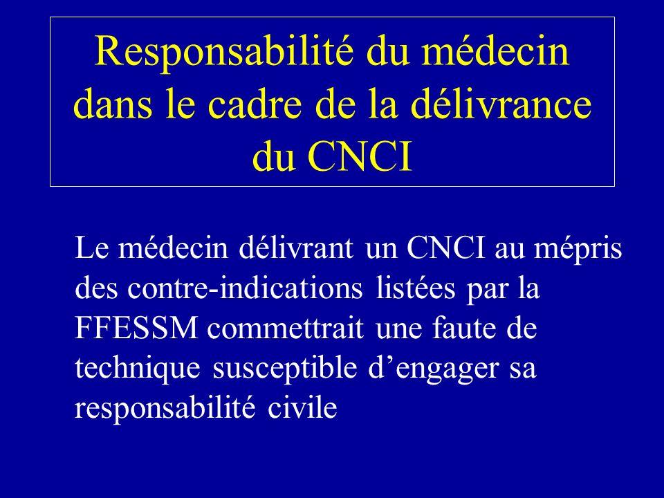 Responsabilité du médecin dans le cadre de la délivrance du CNCI