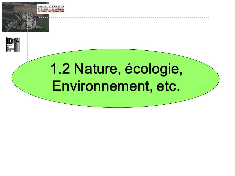 1.2 Nature, écologie, Environnement, etc.