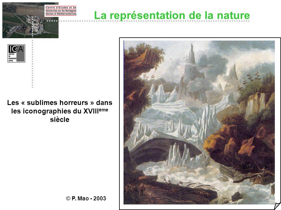 La représentation de la nature