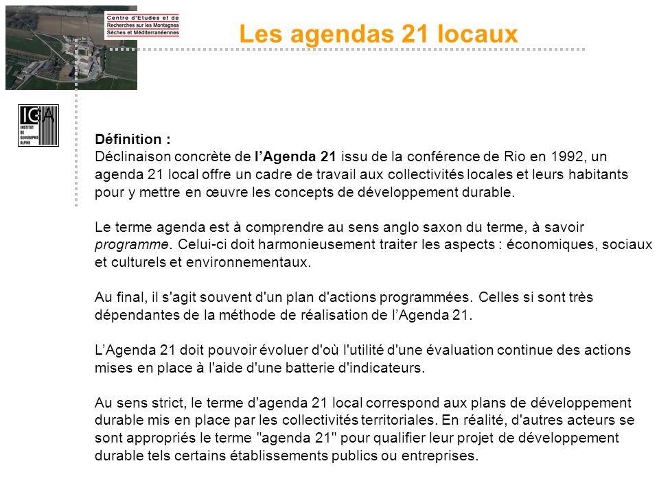 Les agendas 21 locaux Définition :