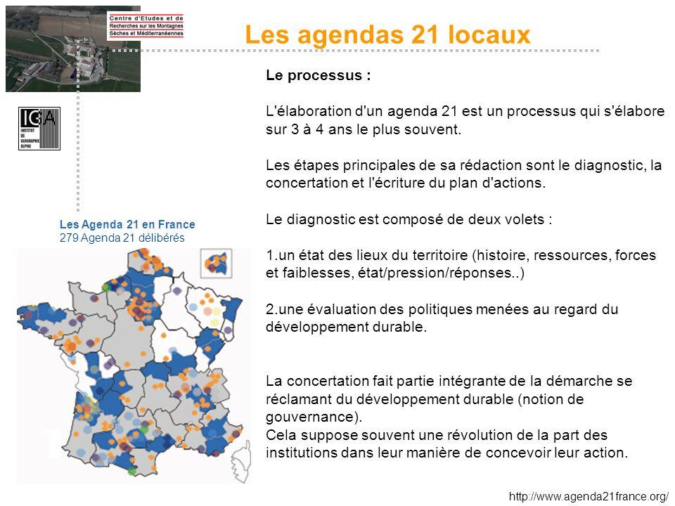 Les agendas 21 locaux Le processus :